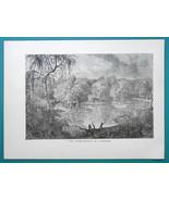 AUSTRALIA Floods on River Murray - 1877 Wood Engraving Illustration - $8.09