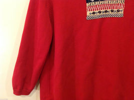Alfred Dunner Red 3/4 Sleeve Sweater USA Flag Imitation, Size M, 100% cotton image 4