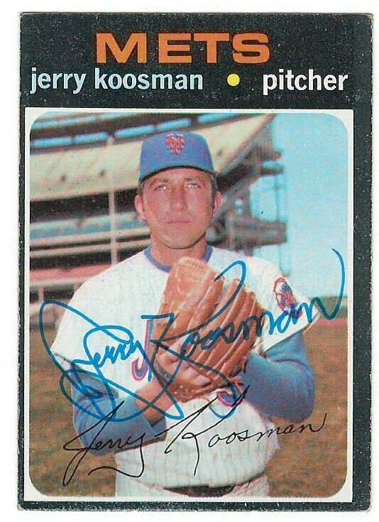Primary image for Jerry Koosman Signed 1971 Topps Card / Autographed Mets JSA