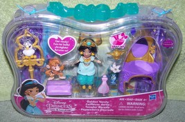 "Disney Princess Little Kingdom Golden Vanity Jasmine 3"" Doll  Mini Plays... - $16.50"