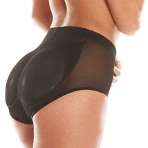 Women's Fullness Silicone Buttocks Butt Shaper Lifter Panty Black #7010