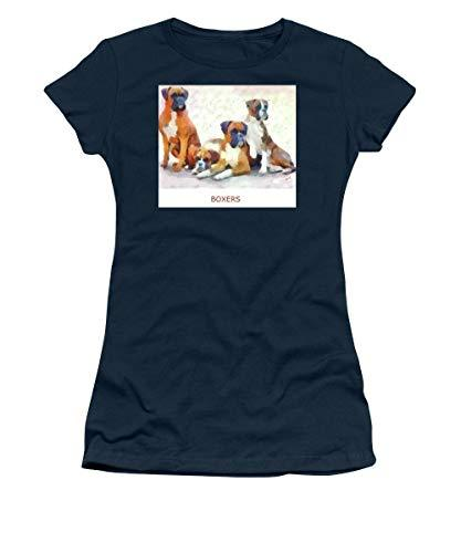 Primary image for Boxer Quartet - Women's T-Shirt - Navy/XLarge