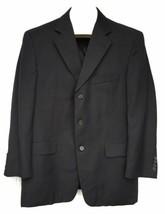 Burberry London Sport Coat Jacket Blazer Wool Black Size 41 Regular Pins... - $59.39