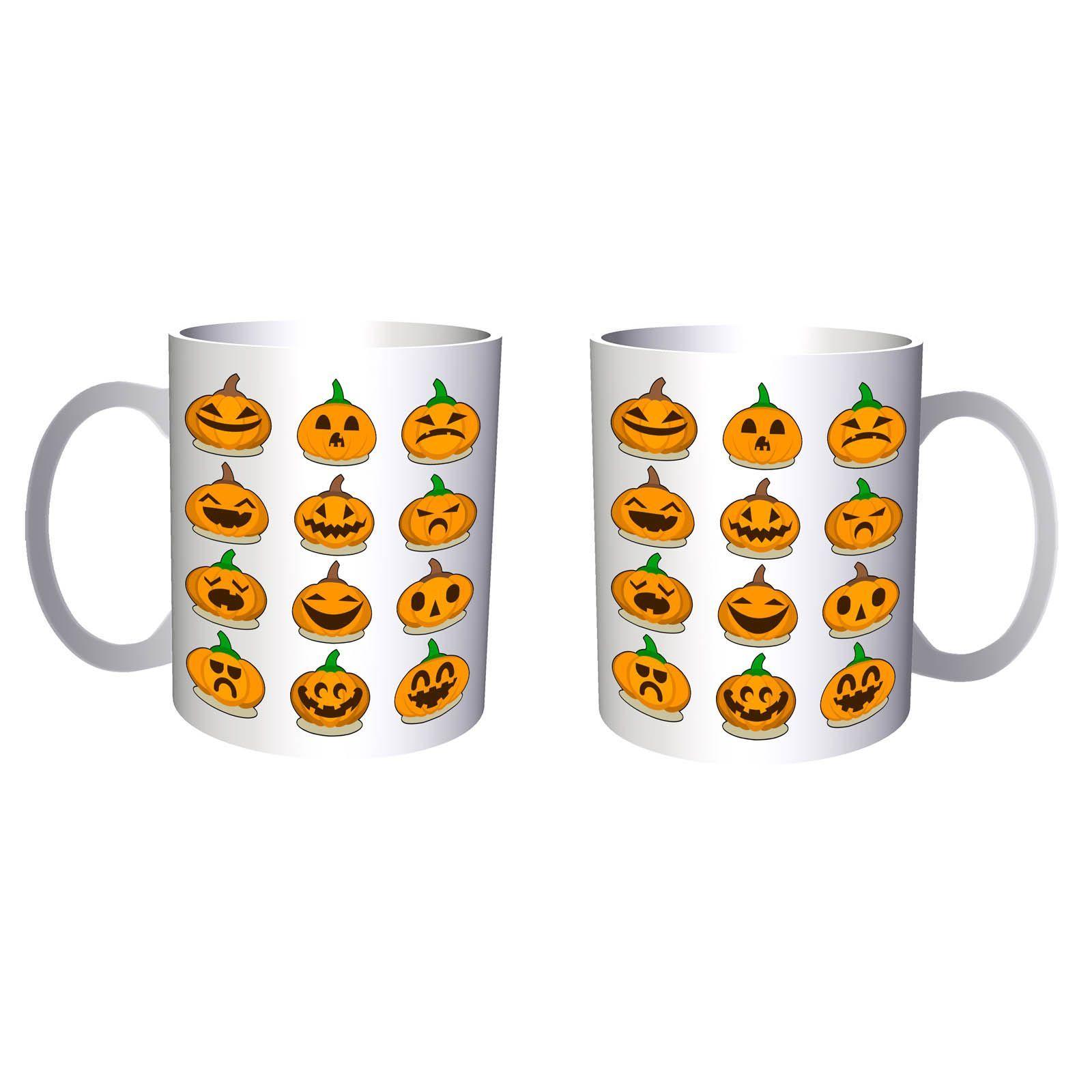 Scary Halloween Pumpkin 11oz Mug q180