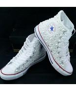 White Pearl High-top Converse Sneaker Shoes Lac... - $175.00