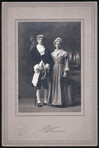 Rev. J.A. Betcher & Wife Cabinet Photo Livermore Falls ME in Colonial Co... - $24.75