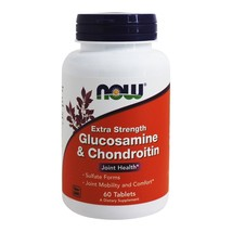 NOW Foods Glucosamine and Chondroitin Sulfate Extra Strength Joint Health, 60 Ta - $18.05