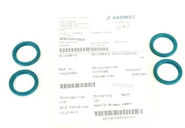 LOT OF 4 NEW KRONES 0166039485 SEALING RINGS G24X32X4 image 1