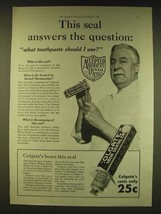 1931 Colgate Toothpaste Ad - This seal answers the question - $14.99