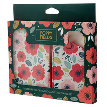 Fun Novelty Poppy Fields Luggage Tag and Passport Cover Set - $18.07