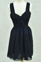 H&M Dress Sexy Bustier Dress Little Black LBD Dress Size 12 - $22.27