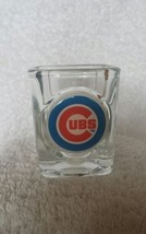 chicago cubs domed team logo square shot glass mlb baseball  - $8.99