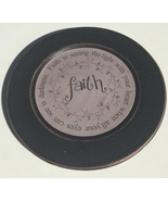 33082F  Wood Plate Faith - Faith is seeing the light with your heart wh... - $10.95