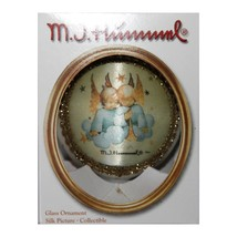 "M.I. HUMMEL* 3"" Diam. HEAVENLY DUO Silk Image Bauble GLASS ORNAMENT Holi... - $9.99"