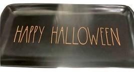 "Rae Dunn Black w/ OrangeHAPPY HALLOWEEN Large Platter Tray 14-1/2"" x 7""  - $59.39"