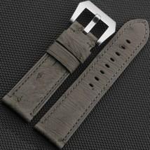 Grigio Genuine Struzzo cinturino in pelle Braccialetto Panerai Luminor 24mm - $75.00