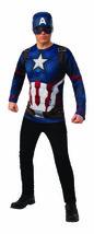 Rubies Captain America Avengers Endgame Halloween Shirt Mask Costume 700710 - £21.99 GBP