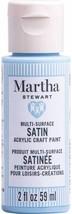 Martha Stewart Crafts Multi-Surface Satin Acrylic Paint, 2 oz, JELLYFISH BLUE - $9.89