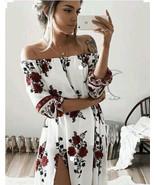 Vintage Spring Off Shoulder Women Floral Print Boho Long Maxi Dress 2017 - $25.99