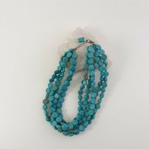 Multi Strand Turquoise Necklace 12mm Coin Beads image 6