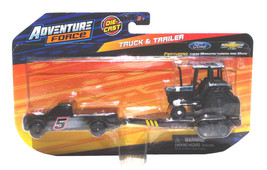 Adventure Force Ford F350 Heavy Duty Truck & Flatbed Trailer with Tracto... - $13.88
