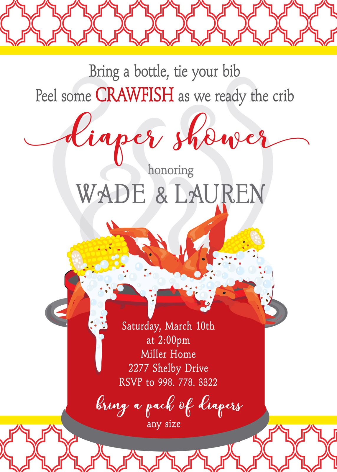 It's just a picture of Nifty Crawfish Boil Invitations Free Printable