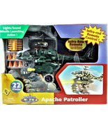 Apache Patroller Helicopter Infra-Red Remote Toy 22 Pieces Lights And Sound - $49.49