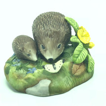 1984 Franklin Mint Figurine Peter Barrett June Country Garden Hedgehog Butterfly - $39.55