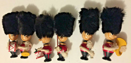 Vintage lot of 6 Buckingham Palace Royal guard figures marching band - $34.65
