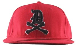 Dissizit Mens Dx Bones English D Red Snapback Baseball Hat Cap Slick Compton NW