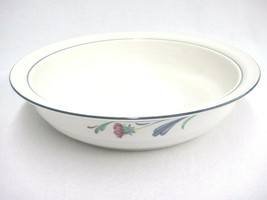 """Lenox Poppies On Blue 9"""" Round Shallow Vegetable Serving Bowl Dish 9.75"""" - $28.21"""