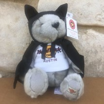 "New Hard Rock Cafe Austin Texas Plush Bat Bear 7"" 2005 Herrington Teddy ... - $59.99"
