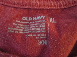 Francisco Football T-Shirt Old Navy Size XL Red TF347/CJC - $10.94