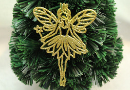 14 x 9.5cm Christmas quality decoration glitter powder plastic fairy Ang... - €7,55 EUR+
