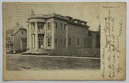 Old Rare Undivided Back Postcard Elks Building Peekskill, New York Poste... - $24.45