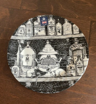 Royal Wessex Halloween Apothecary 4 Dinner Plates Black & White Witches ... - $64.99