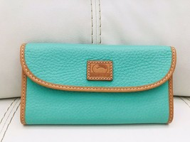 New Dooney & Bourke Patterson Leather Continental Clutch Wallet (Jade Gr... - $112.14 CAD