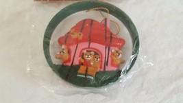 "VINTAGE NIP CLASS TRIM 3"" BEAR HOUSE CHRISTMAS ORNAMENT #13491 HARD PLAS... - $4.94"
