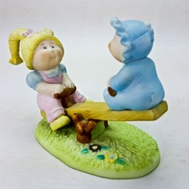 Vintage Cabbage Patch Kids CPK Porcelain Figurine Playground Sea-Saw Gir... - $13.99