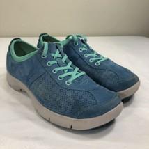 DANSKO Fashion Sneakers Blue Suede Women's EU 39 US 9 Work Walking Shoes - $29.99