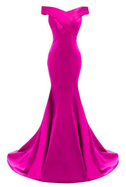 Satin Mermaid Bridesmaids Dresses at Bling Brides Bouquet - Online Bridal Store