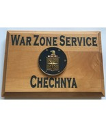 Central Intelligence Agency War Zone Service Chechnya Beveled Edge Wall ... - $49.49