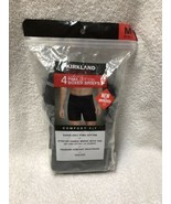 Kirkland signature Men's 3 Pack Pima Cotton Boxer Briefs, Gray/Blue/Blac... - $14.84