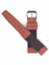 Swiss Army Brand RECRUIT SMALL 16mm Black Nylon/Leather Watch Band ''32070'' - $25.00