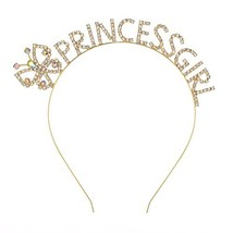 DcZeRong Princess Girls Tiara Birthday Headband Princess Costume Hair Ba... - $13.89