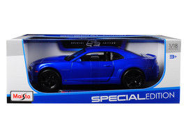 2010 Chevrolet Camaro RS SS Light Blue with Black Wheels 1/18 Diecast Mo... - $52.78