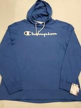 NWT Champion Men's Blue Lightweight Script Hoodie Pullover Sweatshirt La... - $39.59