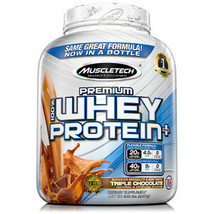 MuscleTech Premium 100% Whey Protein, Chocolate Muscle Gain (5 lbs.)   - $45.53
