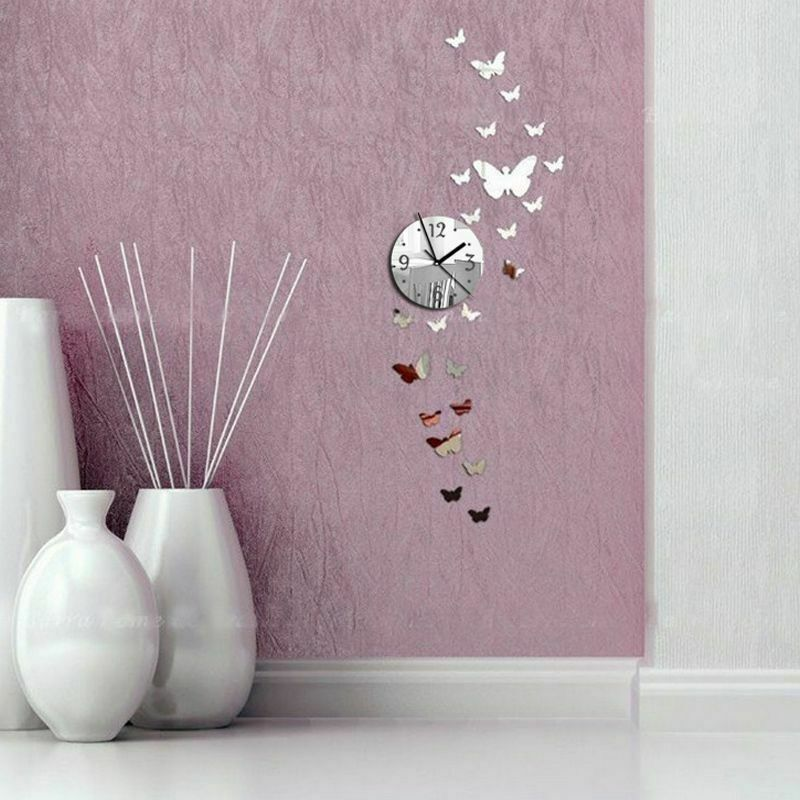 Primary image for Romantic Butterflies 3d Diy Wall Clock Decor Gift Reloj De Pared Con Mariposas
