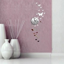 Romantic Butterflies 3d Diy Wall Clock Decor Gift Reloj De Pared Con Mar... - $16.81